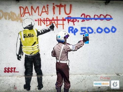 Grafiti Damai itu Tidak Indah