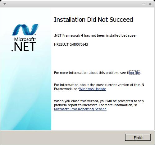 Tampilan Error Instalasi Net Framework 4.0 - Silumansupra